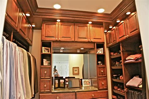 stain grade master walk in closets his and hers