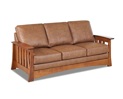 style couches mission style leather sleeper sofa made cl7016dqsl