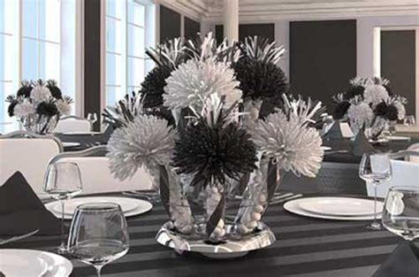 black white table centerpieces black and white wedding table decorations reference for wedding decoration