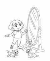 Coloring Mirror Pages Door Explorer Dora Coloringtop sketch template