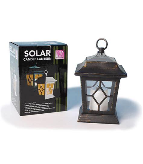 black solar led candle lantern home garden solar lighting