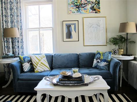 Living-room-with-navy-blue-couch-and-strip-rug-decor-ideas Coffee Dining Table Convertible Turquoise Easy Glass And Black Sets For Sale Tables