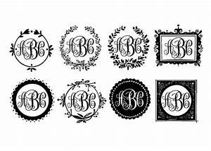 items similar to custom monogram shabby chic framed 3 With custom monogram letters