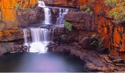 Landscape Australia Nature Waterfall Pond Rock Desktop