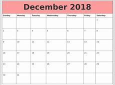 December 2018 Calendars That Work