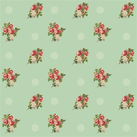 digital vintage rose scrapbooking papers