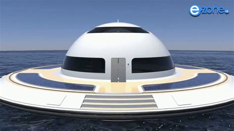 Floating Boat House Ufo by Ufo Boat House