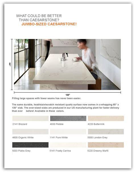 caesarstone now offers jumbo size slabs dbs lumber