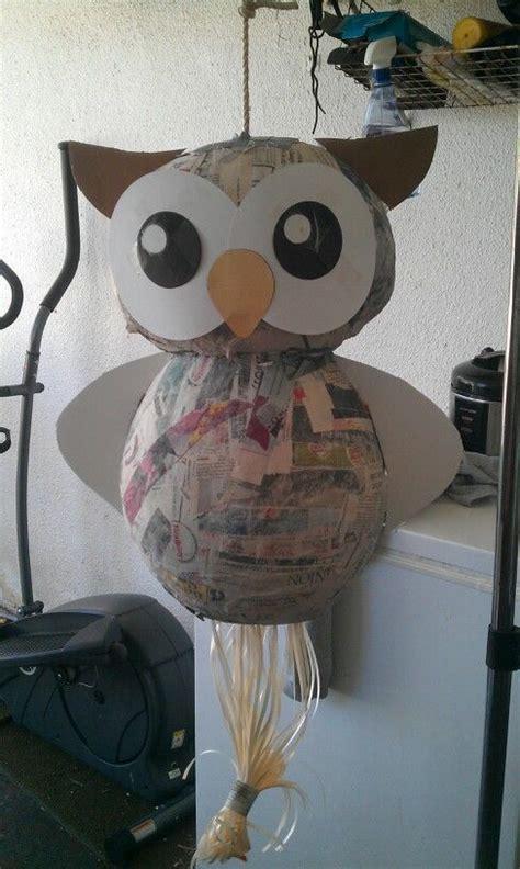 eulen pinata kreativ pinata basteln geschenke fuer teenager und kindergeburtstag basteln