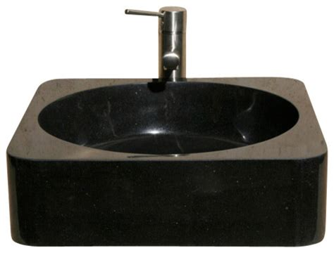 v vsr18 black granite polished vessel sink traditional
