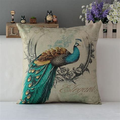 replacement cusions peacock decorative cushion covers luxury home decor throw