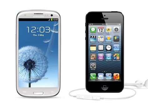 iphone or galaxy apple iphone 5 vs samsung galaxy siii a complete