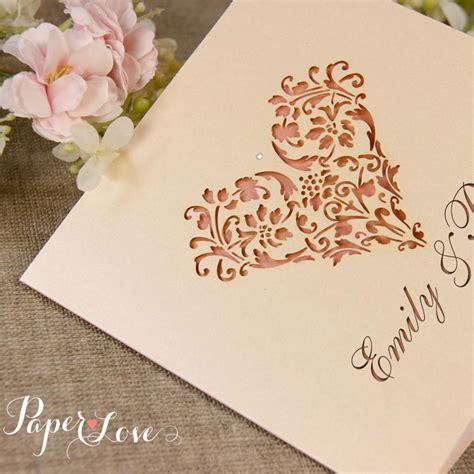 Laser Cut Wedding Invitation Heart Paper Love Cards