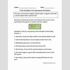 Subject Predicate Worksheet Briefencounters