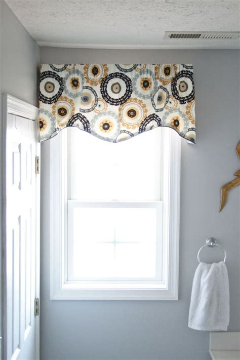 Bathroom Window Valances by Throwing A Curve In The Bathroom Curtains