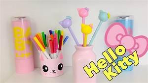 Manualidades KAWAII,como decorar lápices de HELLO KITTY YouTube