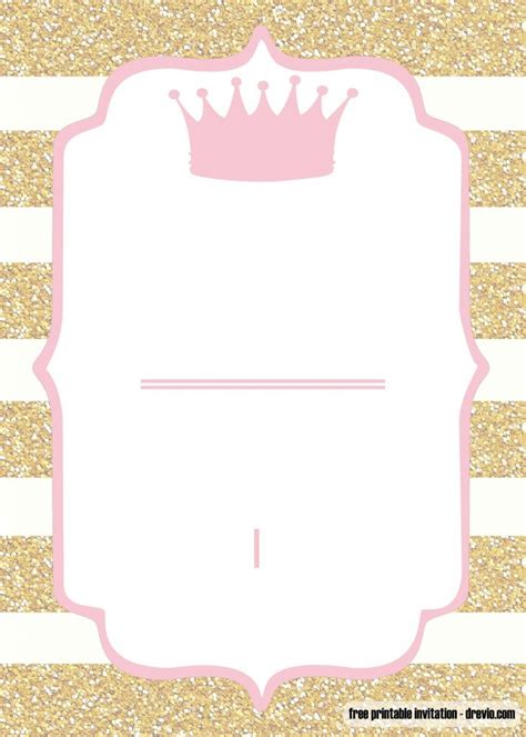 printable pink  gold baby shower invitation