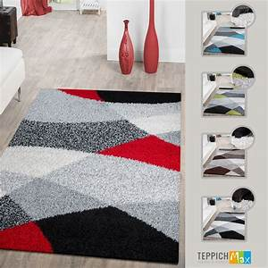 Shaggy Hochflor Teppich : shaggy teppich hochflor moderneteppiche geometrisch gemustert in versch farben hochflor teppich ~ Markanthonyermac.com Haus und Dekorationen