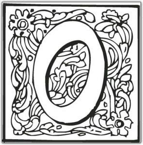 alphabet fancy block coloring pages  kids updated