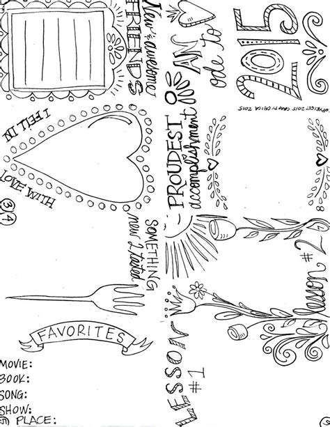 savoring     year coloring pages zine