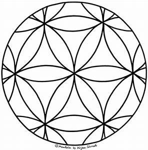 Blume Des Lebens Als Mandala MandalaMalspiel