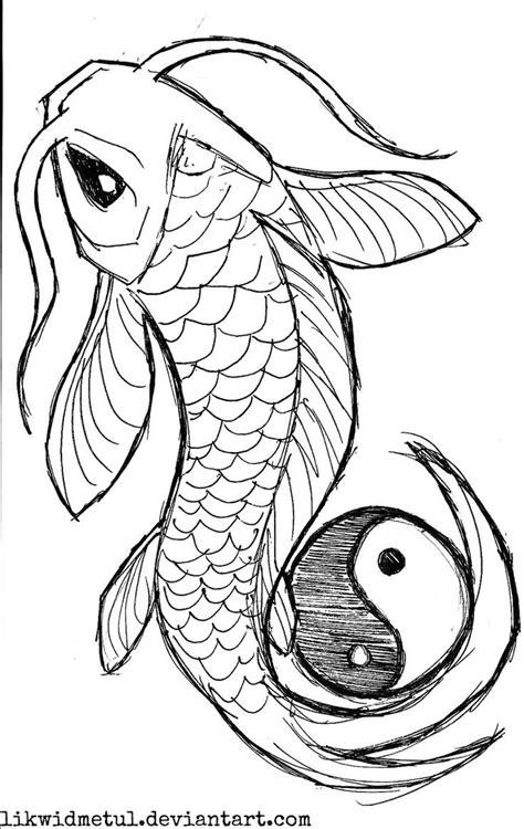 aghnia grey black koi with yin yang stencil by likwidmetul