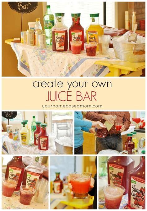 bar juice own party birthday create drink creative visa throw themed dinner simple card