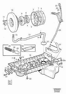 1997 Volvo V90 Engine Crankshaft Pulley  1994  6cyl  B6304fs  System  Lubricating