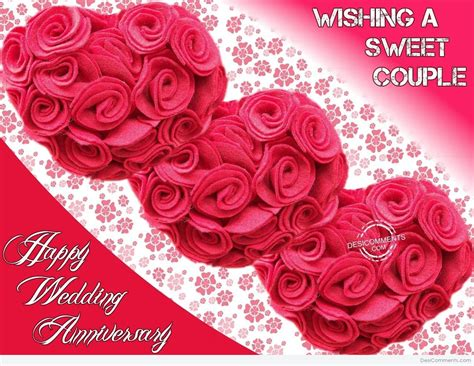 wishing  sweet couple happy wedding anniversary desicommentscom