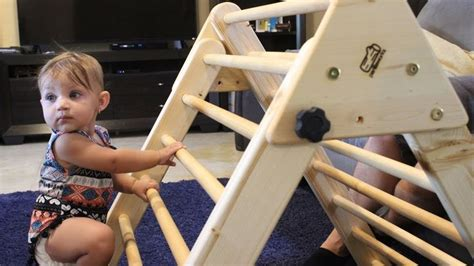making  climbing structure  toddlers pikler triangle