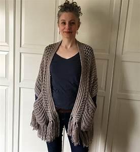 Easy Crochet Shawl Pattern Pdf  Perfect Pockets Shawl