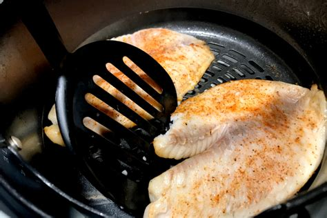 fryer air tilapia flip healthy quick recipe preheat cooking