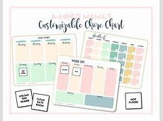 printable Customizable Printable Chore Chart