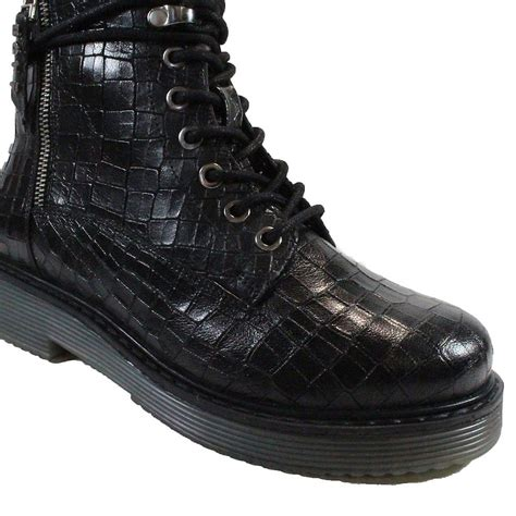 See the bugatti collection at greenesshoes.com with free delivery in. Bugatti 431-5493F-1083 Black Croc Textured Leather Womens Ankle Boots | Fruugo UK