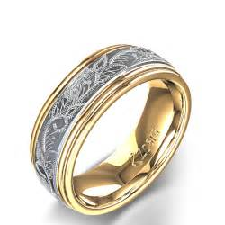 wedding ring designs vintage scroll design 39 s wedding ring in 14k two tone yellow gold
