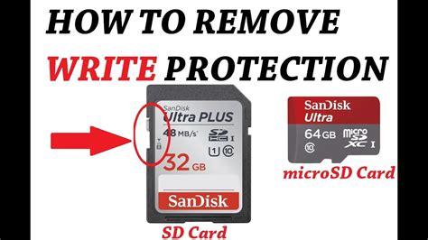 remove write protection micro sd