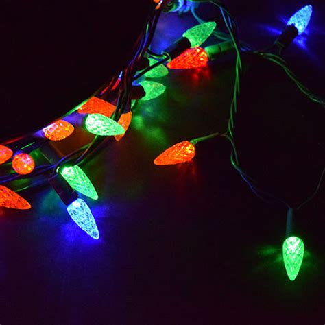 multi colored led string lights c6 210 lights