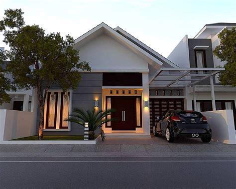 rumah minimalis sederhana bergaya modern 1 lantai tak