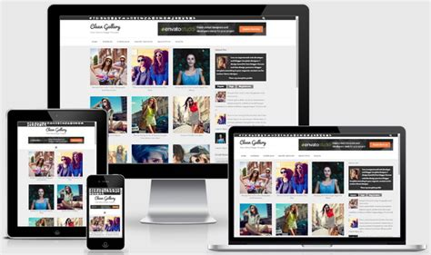 clean gallery blogger template blogger tips  tricks