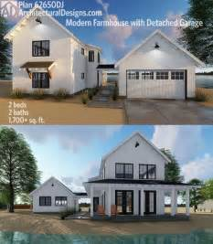 plan dj modern farmhouse plan   beds  semi detached garage   modern