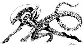 Alien Tattoo Design Drawings