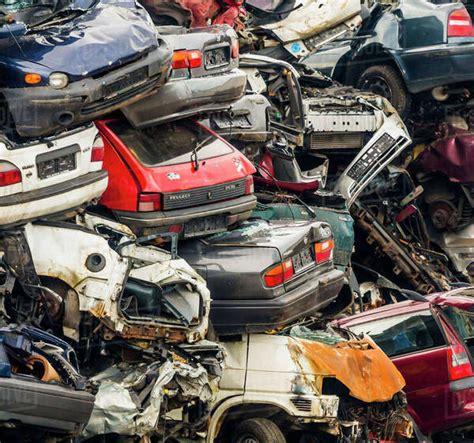 scrap yard scrap cars stock photo dissolve