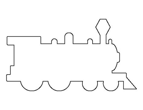 train pattern   printable outline  crafts