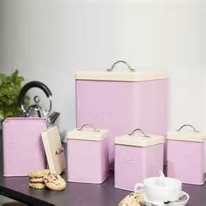 vintage metal kitchen canister sets 5pcs enamel tea coffee sugar bread bin biscuit storage jar