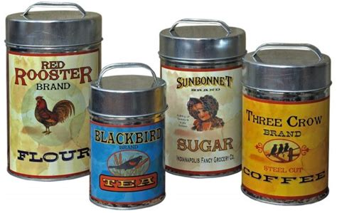 vintage style kitchen canisters holiday shopping guide farmhouse style knick of time