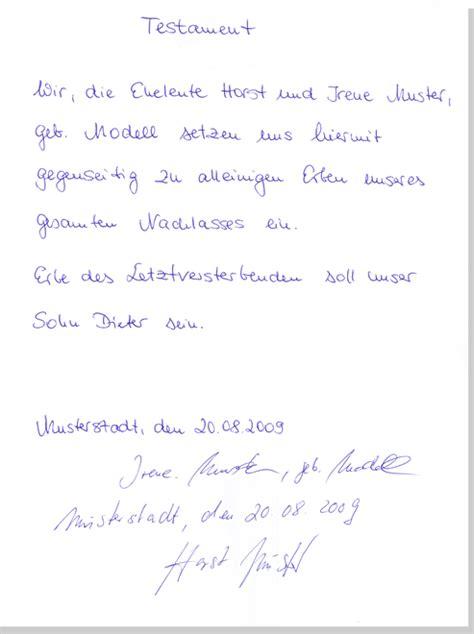 bestattungsinstitut karl schumacher testament