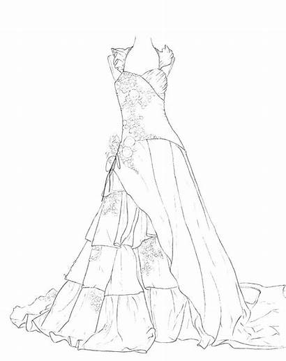 Coloring Fancy Pages Colorings Dresses Colouring Printable