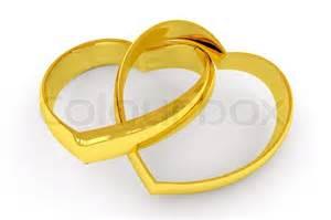 white gold wedding ring shaped gold wedding rings on white background stock photo colourbox