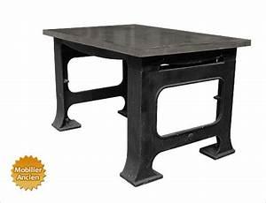 Table De Travail Marbre : design industriel mobilier industriel meuble industriel ~ Zukunftsfamilie.com Idées de Décoration