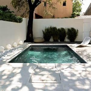 mini piscines piscine avec liner gris fonce filtration With piscine avec liner gris